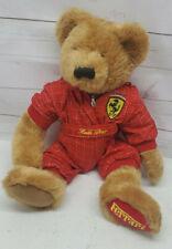 "1997 Ferrari Lauda Bear Racing Suit Stuffed Animal Plush Teddy Bear 15"""
