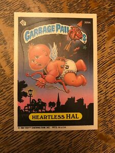 Garbage Pail Kids Heartless Hal 309A 1987 Printed in USA Topps.