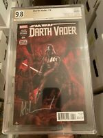 Darth Vader #4! Star Wars 2015! PGX 9.8 (Not CGC SS) Signed Granov & Delgado!