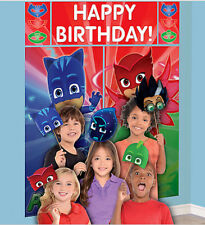 PJ MASKS birthday party Scene Setter & photo booth kit Catboy Owlette Gekko 17pc
