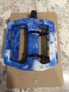 demolition twist plastic pedals white/Blue swirl bmx bike pedals 9/16 bmx bike