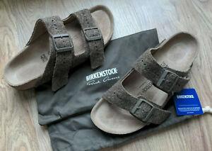 Birkenstock Rick Owens Arizona Sandals EU 42 Mens 9-9.5 Army Felt Monotone brown