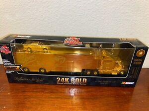 Dr Pepper Racing Champions  24K Gold Hauler with #50  NASCAR Race Car 1 Of 1499