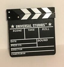 UNIVERSAL STUDIOS, MOVIE MOVING CLAP SCENE CHALK BOARD, 7 1/2 X 8 INCHES, NWOT