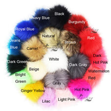DIY Faux Fox Fur Pom Pom Ball Fur Ball Pom Accessory for Keychain or Beanie Hat