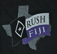 t-shirt small fiji fraternity phi gamma delta texas tx 2010 17 inches pit 2 pit