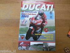 2005 DUCATI CLUBRACES CIRCUIT ASSEN PROGRAMMA,DUCATI CLUB NEDERLAND
