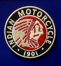 "INDIAN MOTORCYCLE EMBROIDERED CHIEF PATCH ~ 3"" DIA ~ IRON/SEW PRISTINE!"