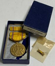 Original WWII American Defense Service Medal, IOB