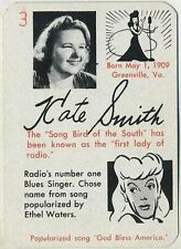 Kate Smith 1945 Leister Autographs Game Card Trading Card EX-MT