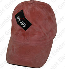 Rosa Freizeit Mütze aus echtem Leder für Frauen | Hut/Kappe/Hat/Cap NEU