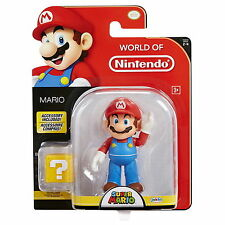 """World of Nintendo 4"""" Super Mario with Coin Box Action Figure Wave 9"""
