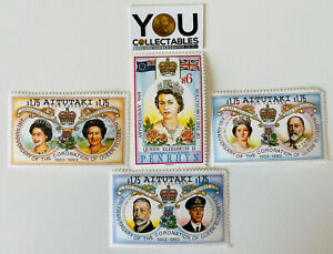 PENRHYN 1993 $6 + 1993 Aitutaki Stamps - 40th ANNIVERSARY OF THE CORONATION MNH