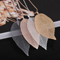 Unique Women Fashion Jewelry Leaves Leaf Sweater Pendant Chain Necklace MP