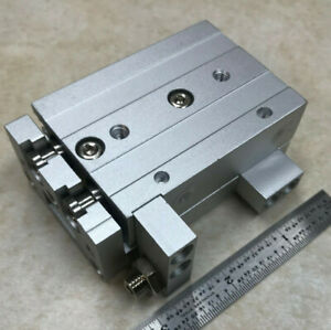 NEW SMC MXS12-30AS pneumatic linear slide stage Double acting ADJUSTABLE STOP