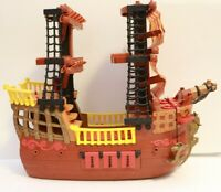 Pirate Ship Fisher Price Imaginext Adventures 2006 Brown Red Retired Boat L1284