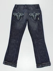 Antik Denim womens blue bootcut jeans size 30w reg 31leg (W4093)