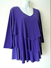 ***SUSAN GRAVER Sz M knit tiered TOP purple!!