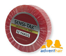 "Red Sensi-Tak Tape Roll 3/4"" x 12 yds WALKER lace wig toupee hairpiece"