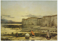 Pegwell Bay, Kent, William Dyce print in 10 x 12 mount ready to frame SUPERB