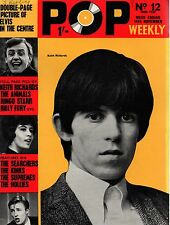 Pop Weekly Magazine 14 November 1964   Keith Richards  The Supremes  The Hollies