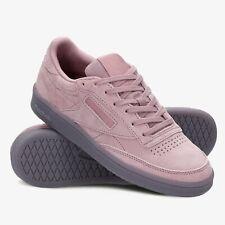 Womens Reebok Classics Club C 85 Purple Suede Lifestyle Sneakers NEW