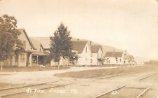 Gilead ME~Railroad R-O-W Parallel~Homes (Many Now Gone) on Depot St RPPC c1910