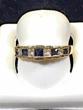 Ladies Sapphire + Diamond Ring