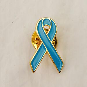 Light Blue Awareness Ribbon Pin Addisons Graves Prostate Cancer Men's Health