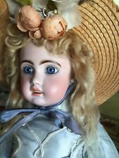 """Antique 20"""" Original French TETE JUMEAU Bisque Doll Incised 1907"""