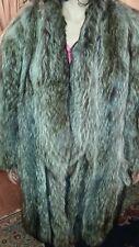 Golden Feldman woman fur coat.  Racoon Fur Coat 3/4 Length size 16 Exc Condition