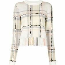 CHLOE FRINGE-TRIMMED SWEATER SMALL