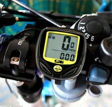 Waterproof Bicycle Speedometer Cycle Bike Meter Computer Speed Odometer Cycling