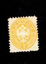 AUSTRIA Sc# 22, 1863-4 REPRINT, M-HR Perf 10 1/2