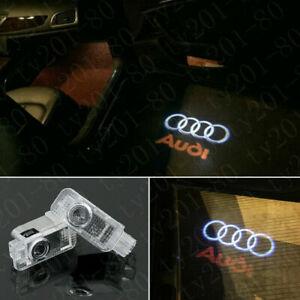 Audi 2X CREE LED Light HD Logo Projector Emblem Ghost Shadow Door Welcome Lights