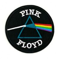 PINK FLOYD Dark Side of the Moon Iron On Embroidered Patch Prism patches 384