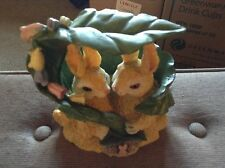 Kissing bunnies figurine