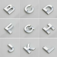 Car (A-Z) 3D LOGO DIY Metallic Alphabet Sticker Emblem Letter Badge Decal Chrome