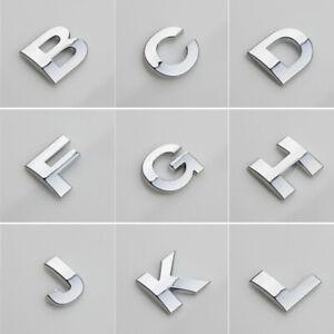 Car (A-Z) 3D LOGO DIY Metallic Alphabet Sticker Emblem Letter Badge Decal Chrome