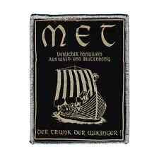 MET Patch DER TRUNK DER WIKINGER Aufnäher mead ♫ Heavy Metal ♪ The Viking Drink