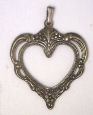 NOS New Towle Sterling Silver Vintage 1976 Christmas Ornament Heart Pendant O310