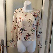 Zara Cropped chiffon blouse top Size XS UK 8 /10 vgc