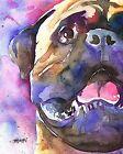 Bullmastiff Dog 8x10 Art Print Signed by Artist Ron Krajewski