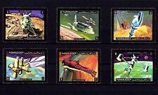 AJMAN - 1972 - SPACE - SHUTTLE - MOON LANDER - MARS FLIGHT - 6 X MINT - MNH SET!