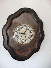 Ochsenauge l 'oeil de Stroganoff francés antiguo reloj de pared 19. intarsienuhr Francia