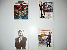 Lot  4  Cartes Postales   JAMES  BOND  007  Sean Connery  Roger Moore  Postcards