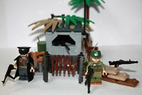 German Bunker WW 2 with Soldier and Officer minifigure set For Lego Bricks