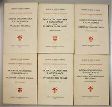 Archivio Stato Firenze MOSTRE DOCUMENTARIE 1-9 1956-1966 Palazzo Vecchio Uffizi
