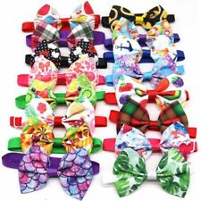 50pcs Colorful Dog Bow Ties Summer Neckties Holiday Pet Grooming Accessories
