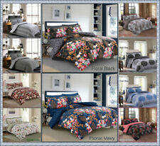 4Pcs Poly Algodón Floral atractivos colores Conjunto de Edredón Edredón Juego de sábanas fundas de almohada